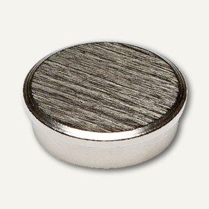 Alco Kraftmagnet, Ø 22 mm, Haftkraft: 7 kg, Chromkappe silber gebürstet, 7018-27