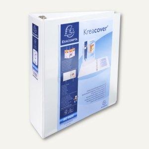Exacompta Präsentationsringbuch KreaCover - A4+, 4- Ringe Ø 60mm, weiß, 51845E
