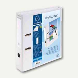 Präsentationsordner KreaCover DIN A4, 2-Ringe, Rücken 70 mm, weiß, 53789E