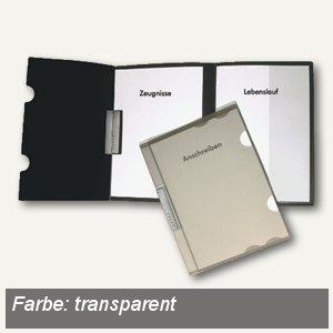 Bewerbungsmappe Clip L, 3-teilig, DIN A4, natur-transparent, PP, 26041.086