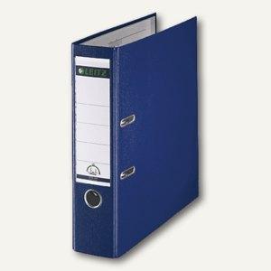 LEITZ Kunststoffordner 180°, Rückenbreite 80 mm, PP, blau, 1010-50-35