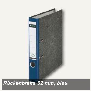 LEITZ Standard-Ordner 180°, schmal/Rücken 52mm, Wolkenmarmor/blau, 10505035
