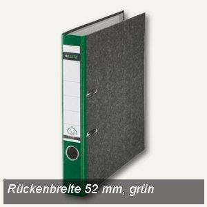 LEITZ Standard-Ordner 180°, schmal/Rücken 52mm, Wolkenmarmor/grün, 1050-50-55