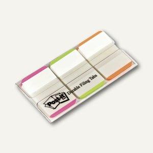 Post-it Index Strong, 25,4x38 mm, pink, grün, orange, 66 Blatt, 686L-PGO