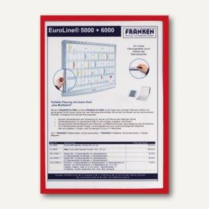 Franken Dokumentenhalter, DIN A4, magnethaftend, rot, ITSA4M 01