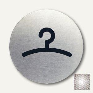 Artikelbild: Edelstahl-Piktogramm Garderobe