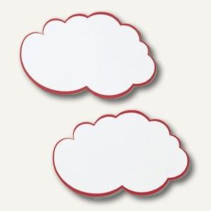 Franken Moderationswolken, 14x23cm, weiß/roter Rand, 20 Stück, UMZ WM
