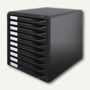 LEITZ Formular-Set, zehn Schubladen, A4+, schwarz, 5294-00-95