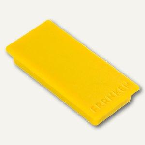 Franken Rechteckmagnet, Haftmagnet, 23 x 50 mm, gelb, HM2350 04