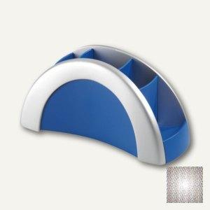 Durable Stifteköcher Pen Butler, 5 Fächer, silber/blau, 7720-23