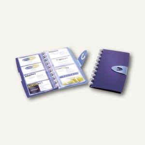 Durable Visifix Walk, Visitenkartenbuch für 96 Karten, dunkelblau, 2452-07