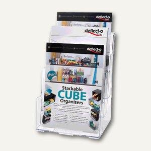 3-Fach Prospekthalter DIN A4, Plexiglas, 30 mm Fachtiefe, glasklar, 77301