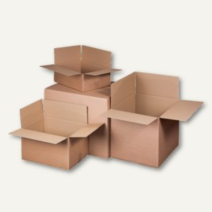Versandkartons, 2-wellig, 500 x 400 x 400 mm, 30 kg, braun, 10 St., 222102510