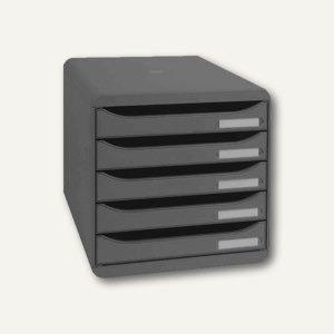 Büroboxen BIG-BOX PLUS, DIN A4+, PS, 347 x 278 x 271 mm, schwarz, 309714D
