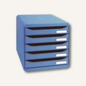 Multiform Büroboxen BIG-BOX PLUS, DIN A4+, PS, 347 x 278 x 271 mm, blau, 309779D