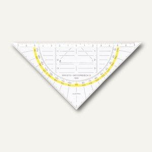 Aristo Geo-Dreieck, Plexiglas, 16 cm, mit Griff, glasklar, AR1553