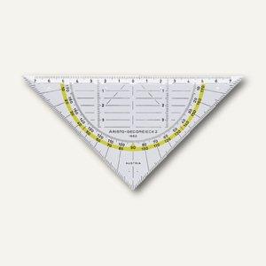Aristo Geo-Dreieck, Plexiglas, 16 cm, ohne Griff, glasklar, AR1552