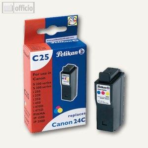 Pelikan Ink-Jet-Patrone C25, kompatibel zu BCI24C, 3-farbig, 339317