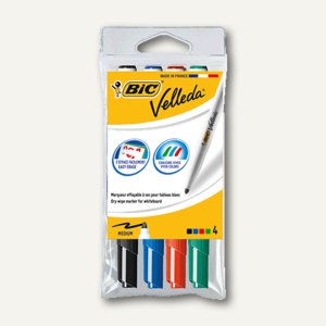 "BIC Whiteboardmarker ""Velleda 1741"", Rundspitze 1.4 mm, 4er Set, 1199001744"