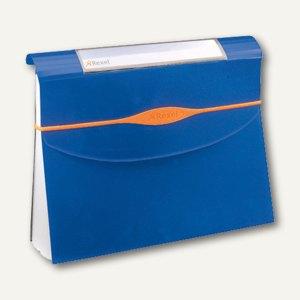 Rexel Fächermappe Optima, 13-teilig, bis 500 Blatt, blau, 2102484
