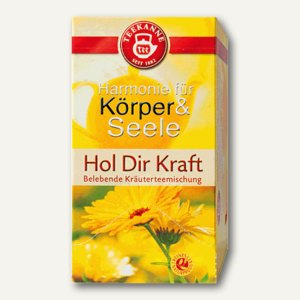 "Teekanne ""Hol Dir Kraft"" Tee, belebende Kräuterteemischung, 20 Stück, 4932"