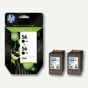 HP Tintenpatronen Nr.56, Doppelpack, C9502AE