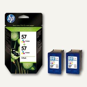 HP Tintenpatronen Nr. 57, dreifarbig, Doppelpack, C9503AE