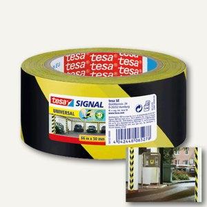 Signal Markierungsklebeband Universal - 66 m x 50 mm, PP, gelb/schwarz, 58133-00