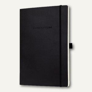 Sigel Notizbuch CONCEPTUM, 135x210 mm (ca.A5), Softcover, liniert, schwarz,CO222