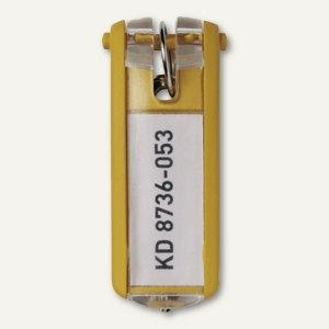 Durable Schlüsselanhänger KEY CLIP, gelb, 6 Stück, 1957-04