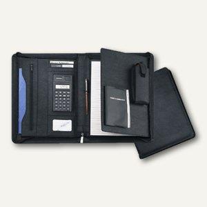 Ecobra Konferenzmappe, m. Taschenrechenr, DIN A4, Kunstleder, schwarz, 611073