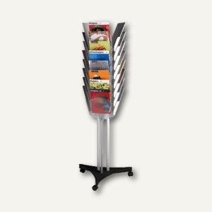 Paperflow Prospektständer, 167 x 63.6 x 56 cm, 24 Fächer f. DIN A4, PM024TT.01