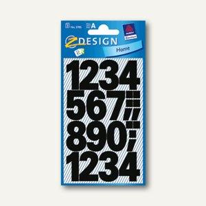 Zweckform Zahlenetiketten 0-9, Ziffernhöhe: 25 mm, wetterfest, schwarz, 3785