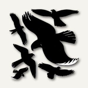 Zweckform Fensterwarnvögel, wetterfest, schwarz, 4485