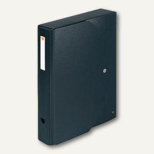 Exacompta Dokumentenbox Exabox, 350 x 270 mm, Druckknopf, PP schwarz, 59134E