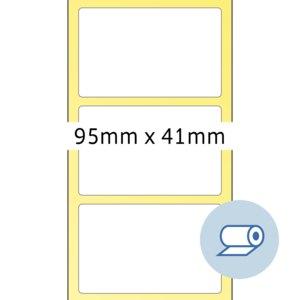 officio Rollenetiketten, 95 x 41 mm, Thermodruck, weiß, 2.000 St., 4085