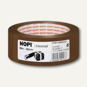 NOPI Klebebänder Universal, braun, 38mm x 66m, 57951