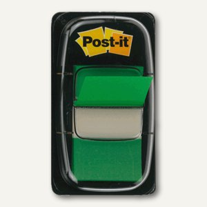 Post-it Index Standard, 25,4x43,2mm, grün, 50 Haftstreifen, I680-3