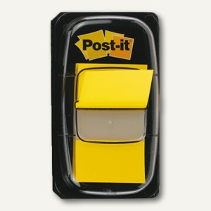 Post-it Index Standard Haftnotizen, 25.4 x 43.2 mm, gelb, 50 St., I680-5