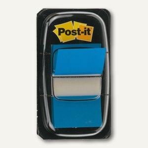 Post-it Index Standard, 25,4x43,2mm, blau, 50 Haftstreifen, I680-2