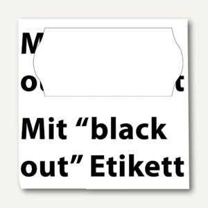 Preisetiketten Black Out