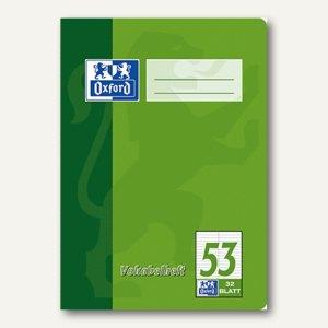 Oxford Vokabelheft, DIN A5, Lin. 53, zweispaltig, 32 Blatt, 384503253