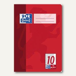 Oxford Heft, DIN A5, Lin. 10 - kariert 5mm Rand, 16 Blatt, 100050372
