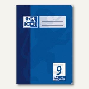 Oxford Heft, DIN A5, Lin. 9 - liniert, 9 mm Rand, 16 Blatt, 100050371