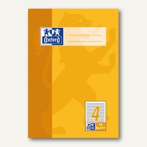 Oxford Heft, DIN A5, Lin. 4 - liniert 9 mm, 16 Blatt, 100050367