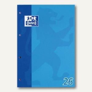 Oxford Berufsschulblock A4, kariert 5mm (26), Rand, 50 Blatt, 90g/m², 100050351