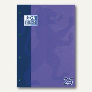Oxford Schulblock A4, liniert 9mm (25), Rand, 50 Blatt, 90 g/m², 100050350