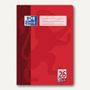 Oxford Heft, DIN A4, Lin. 26 - kariert 5 mm/Rand, 16 Blatt, 100050312
