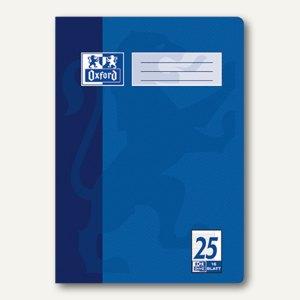 Oxford Heft, DIN A4, Lin. 25 - liniert 9 mm/Rand, 16 Blatt, 100050311