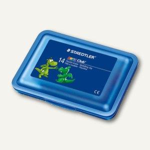 Staedtler Plastilin-Knete, 14 Stangen in der Plastikbox, farbig sortiert,8420 SB